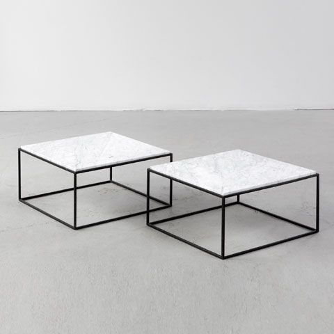 R 20Th Century: Square Coffee Table With Iron Base And Marble Top Intended For Iron Marble Coffee Tables (Image 30 of 40)