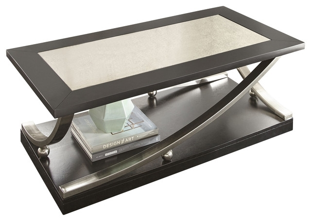 Ramsey Cocktail Table With Casters – Contemporary – Coffee Tables Inside Kelvin Lift Top Cocktail Tables (Image 24 of 40)