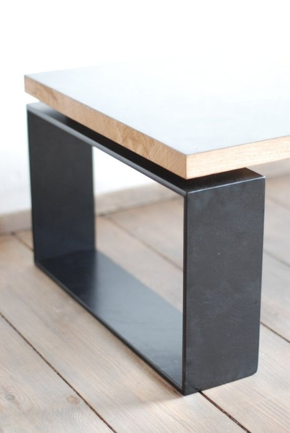 Reclaimed Brass Plate And Oak Coffee Table | Table | Pinterest With Regard To Rectangular Coffee Tables With Brass Legs (View 10 of 40)