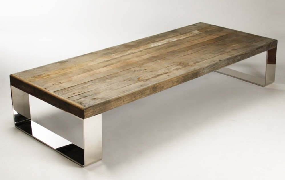 Reclaimed Coffee Table Stores Michigan | Sushi Ichimura Decor With Recycled Pine Stone Side Tables (Photo 21 of 40)