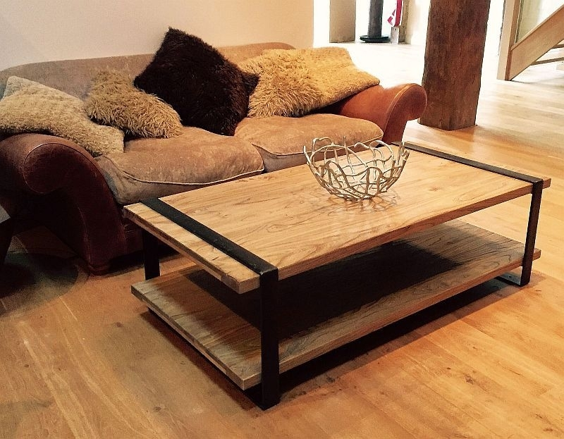 Reclaimed Elm And Iron Coffee Table Throughout Reclaimed Elm Iron Coffee Tables (View 9 of 40)