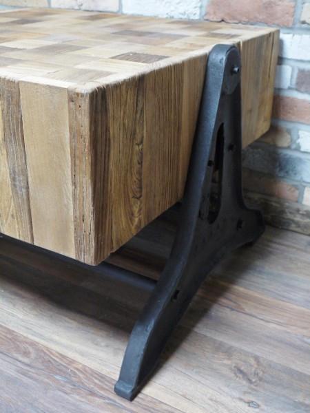 Reclaimed Elm & Cast Iron Table Regarding Reclaimed Elm Cast Iron Coffee Tables (View 35 of 40)