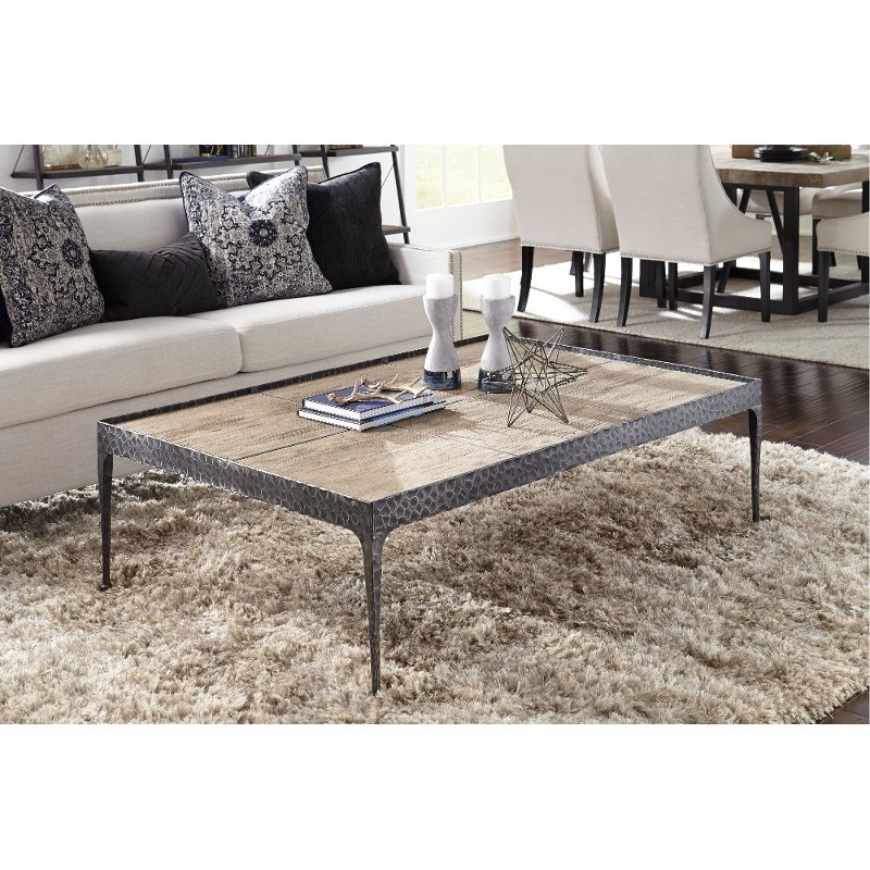 Reclaimed Pine Coffee Table – Cromwell | Rc Willey Furniture Store Inside Reclaimed Pine Coffee Tables (Image 22 of 40)