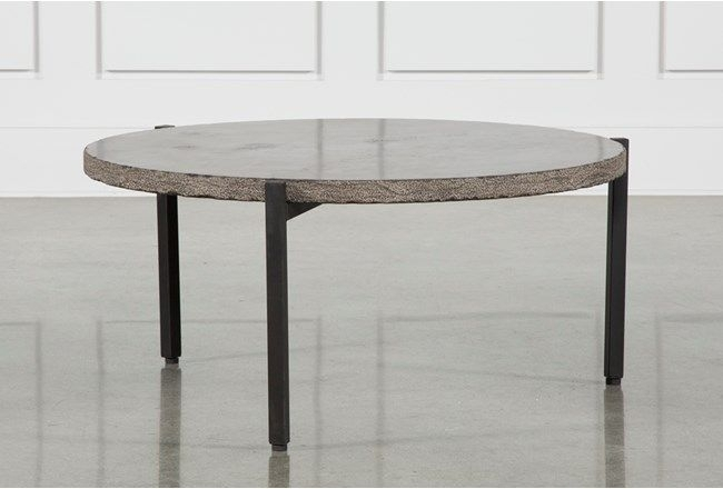 Reclaimed Pine & Iron Coffee Table W/stone, Grey | Iron Coffee Table Intended For Reclaimed Pine & Iron Coffee Tables (View 9 of 40)