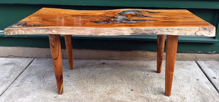 Reclaimed Teak And Resin Coffee Table, Wood Legimpact Imports Pertaining To Live Edge Teak Coffee Tables (View 24 of 40)