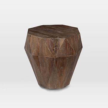Reclaimed Wood Faceted Side Table | Pinterest | Woods, Wood Coffee Pertaining To Geo Faceted Coffee Tables (Photo 1 of 31)