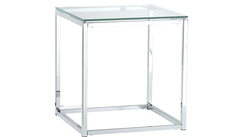 Rectangle Side Table Smart Glass Top Chrome Base For Coffee Skinny Intended For Smart Glass Top Coffee Tables (View 18 of 40)
