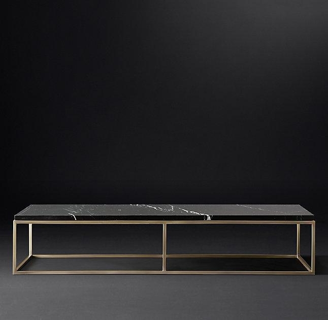 Rectangular Black Marble Coffee Table With Regard To Alcide Rectangular Marble Coffee Tables (View 1 of 40)