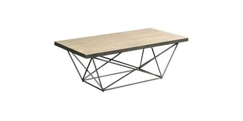 Rectangular Cocktail Table In Distressed Metal (Grey) | Products With Regard To Combs Cocktail Tables (Photo 13 of 40)