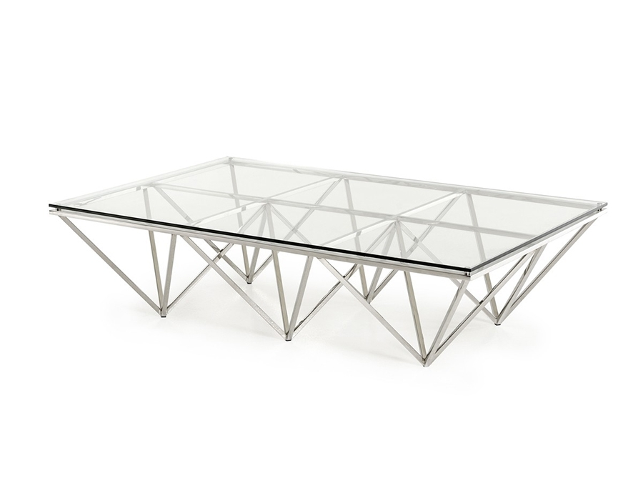 Rectangular Glass Coffee Table – Shop For Affordable Home Furniture Pertaining To Inverted Triangle Coffee Tables (View 29 of 40)