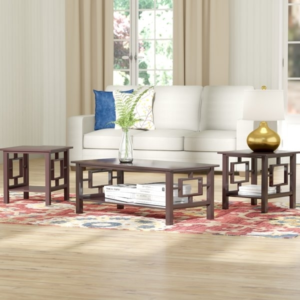 Red Barrel Studio Carewe 3 Piece Coffee Table Set & Reviews | Wayfair Within Carissa Cocktail Tables (Image 27 of 40)