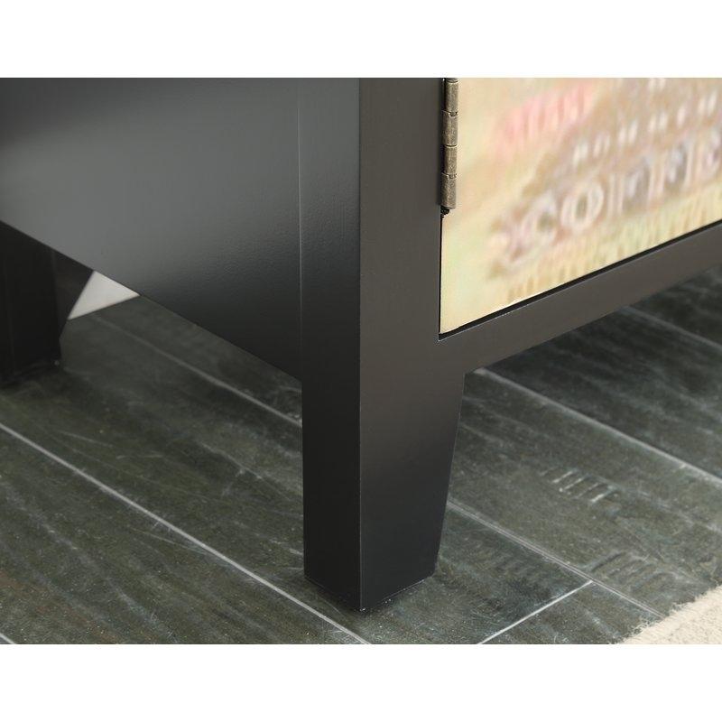 Red Barrel Studio Hayes Coffee Sign 2 Door Accent Cabinet | Wayfair With Regard To Moraga Barrel Coffee Tables (View 31 of 40)
