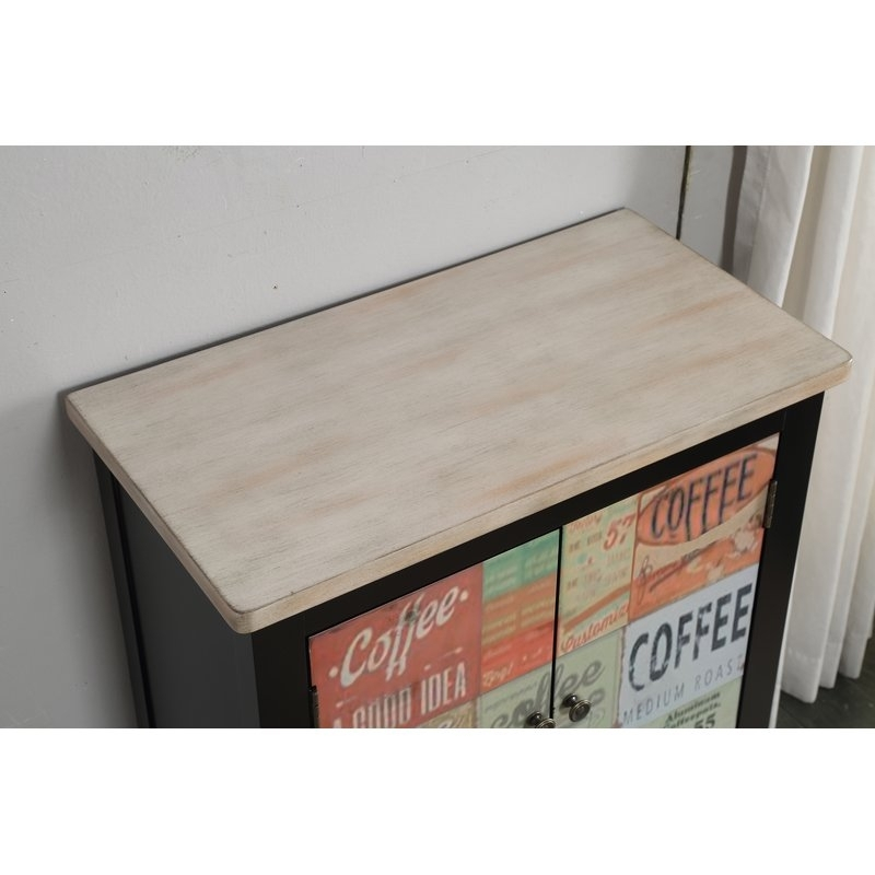 Red Barrel Studio Hayes Coffee Sign 2 Door Accent Cabinet | Wayfair Within Moraga Barrel Coffee Tables (Photo 20 of 40)
