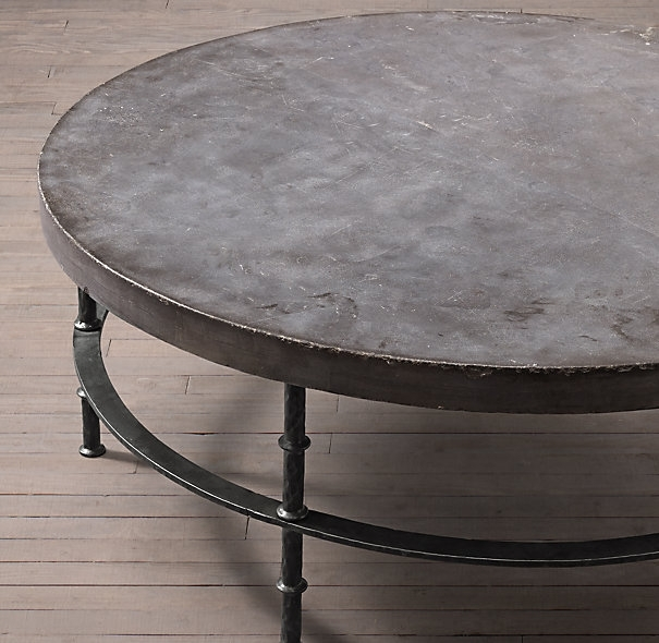 Remarkable Extra Large Round Coffee Table With Rowen Bluestone Round For Bluestone Rustic Black Coffee Tables (Image 34 of 40)