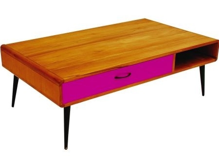 Retro Coffee Table | 1950's Style Coffee Table | Vintage Coffee Inside Rectangular Barbox Coffee Tables (Image 23 of 40)