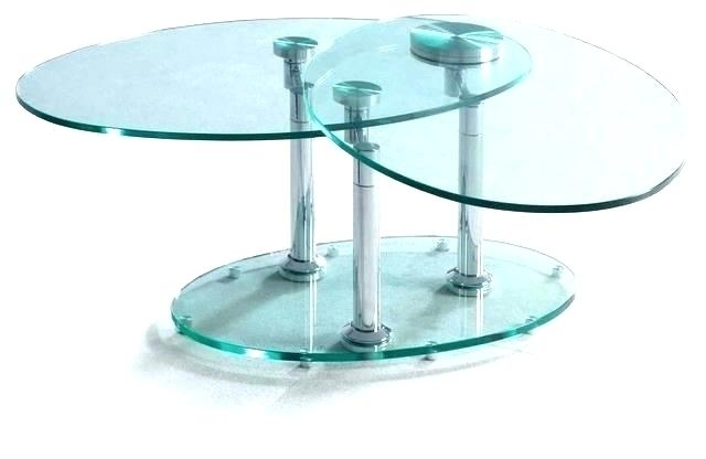 Revolving End Table Spinning Glass Coffee Table Revolving Glass Regarding Spin Rotating Coffee Tables (Image 12 of 40)
