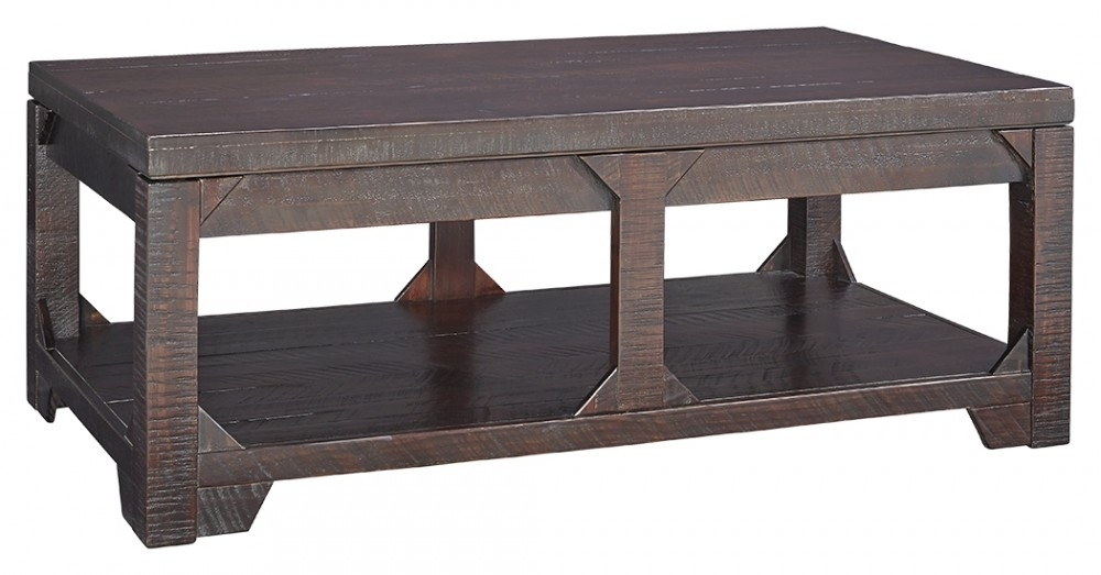 Rogness – Rustic Brown – Lift Top Cocktail Table | T745 9 | Cocktail In Market Lift Top Cocktail Tables (Image 27 of 40)