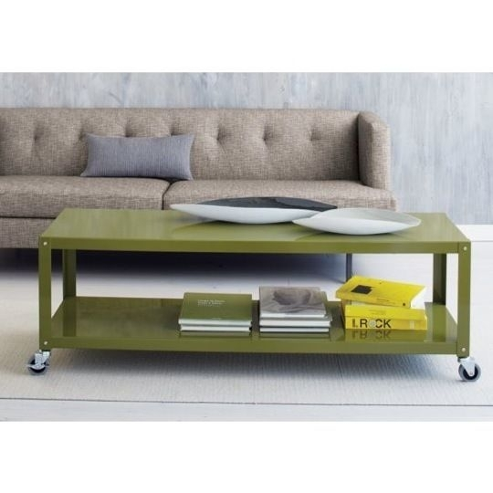 Rolling Cart Coffee Table With Regard To Go Cart White Rolling Coffee Tables (Photo 14 of 40)