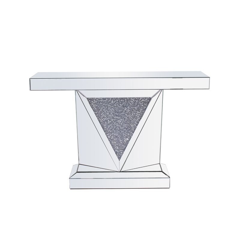 Rosdorf Park Zander Crystal Console Table | Wayfair Intended For Zander Cocktail Tables (View 14 of 40)