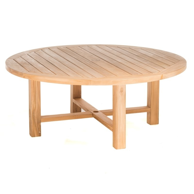 Rosecliff Heights Earnest Round Teak Coffee Table | Wayfair Pertaining To Round Teak Coffee Tables (Image 19 of 40)