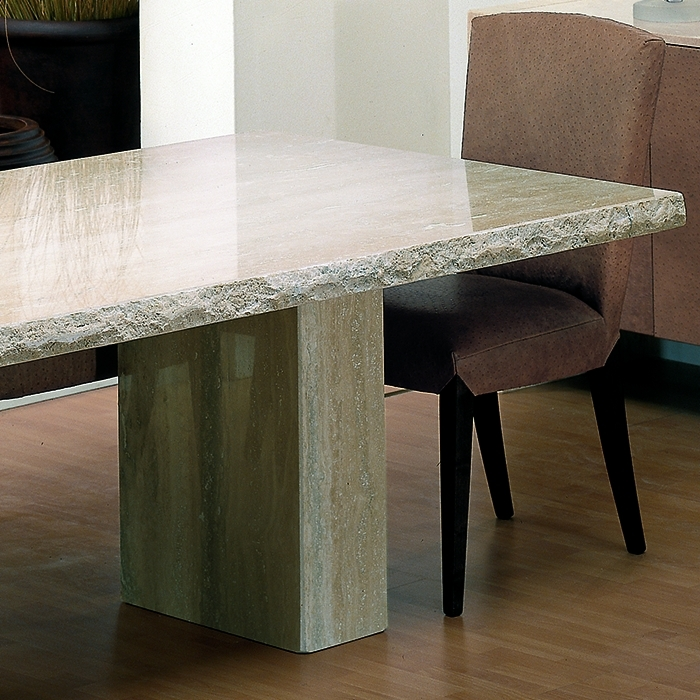 Rossini Chiseled Marble Large Dining Table – Robson Furniture Inside Chiseled Edge Coffee Tables (View 26 of 40)