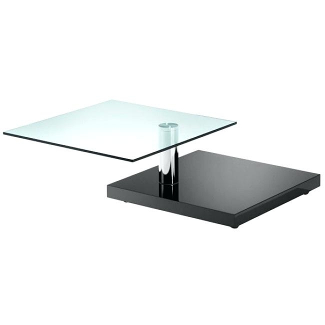 Rotating Glass Coffee Table Gemelli Coffee Table Rotating Round Inside Spin Rotating Coffee Tables (Image 20 of 40)
