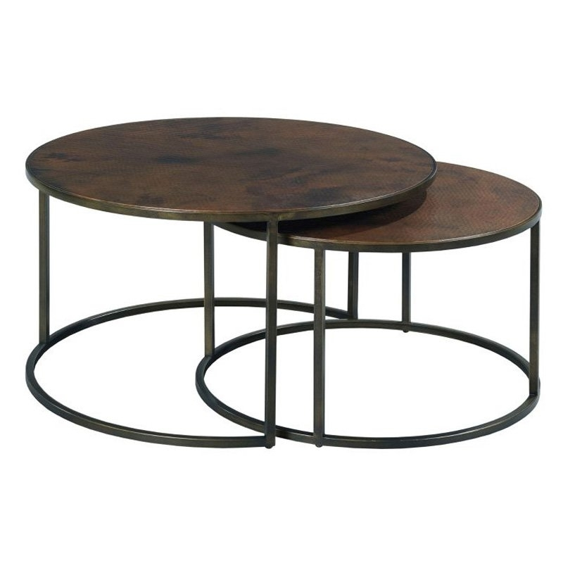 Round Cocktail Table For Palencia 34 Coffee With Iron Base Arhaus Throughout Stratus Cocktail Tables (View 26 of 35)