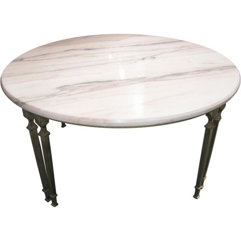 Round Marble Table With Regard To Smart Large Top Coffee In Tables Throughout Smart Large Round Marble Top Coffee Tables (View 16 of 40)