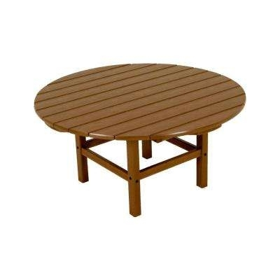 Round – Teak – Outdoor Coffee Tables – Patio Tables – The Home Depot Within Round Teak Coffee Tables (Image 20 of 40)