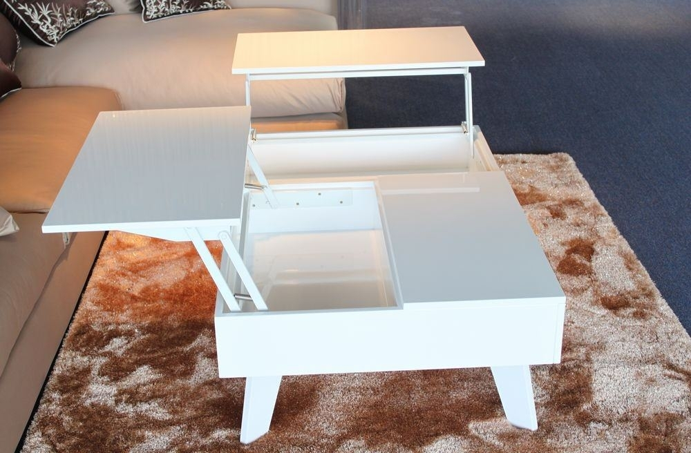 Round White Lacquer Coffee Table — Sushi Ichimura Decor : Modern Within Casbah Coffee Side Tables (Image 34 of 40)