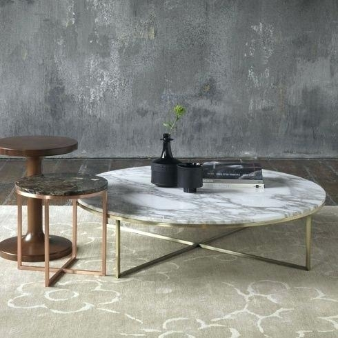 Round White Marble Coffee Table Throughout Smart Round Marble Brass Coffee Tables (Image 34 of 40)