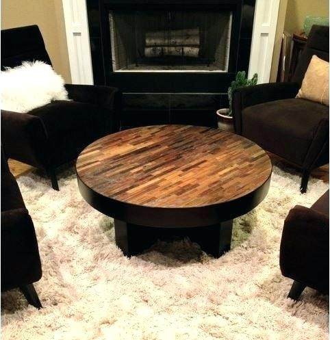 Round Wood Coffee Table Rustic Modern Rustic Round Coffee Table Pertaining To Modern Rustic Coffee Tables (Image 30 of 40)