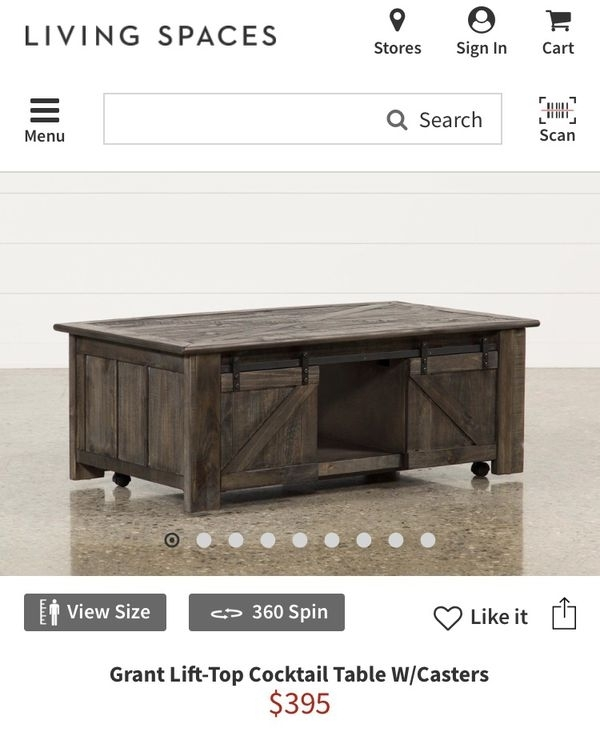 Rustic Brand New Coffee Table For Sale In Encinitas, Ca – Offerup For Grant Lift Top Cocktail Tables With Casters (Image 34 of 40)