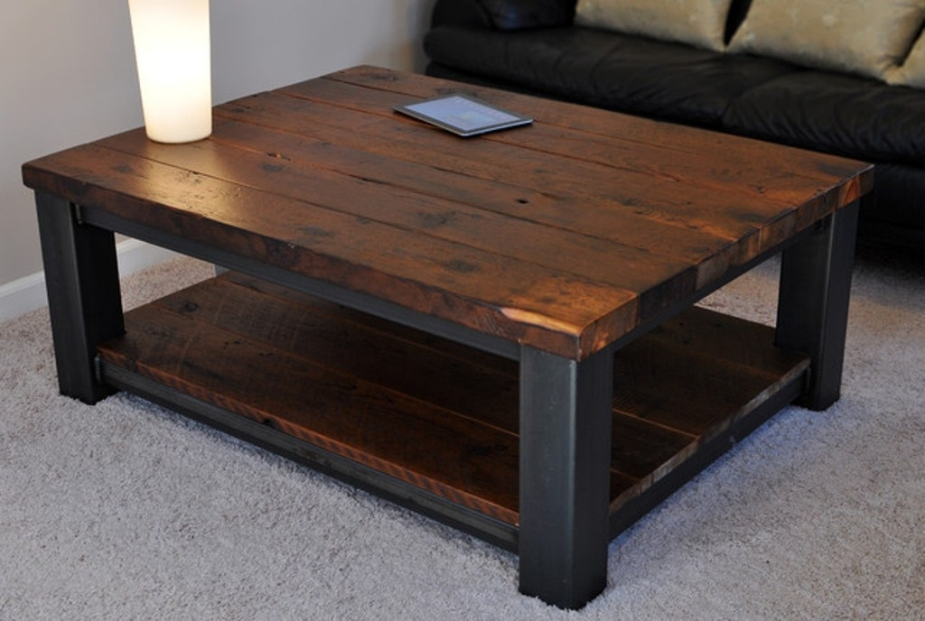 Rustic Coffee Table Intended For Our Sweetheart Is A Beautiful Regarding Iron Wood Coffee Tables With Wheels (View 38 of 40)