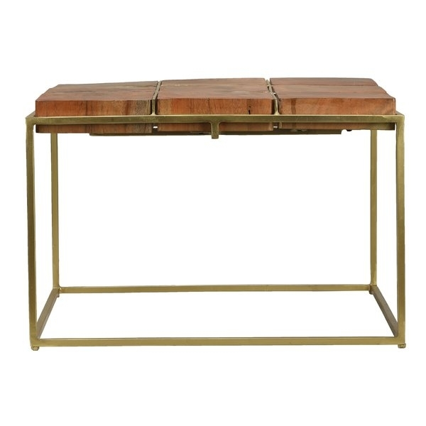 Rustic Coffee Tables You'll Love | Wayfair For Natural 2 Drawer Shutter Coffee Tables (Image 37 of 40)