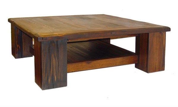 Rustic Lodge Log And Timber Furniture: Handcrafted From Green Throughout Mountainier Cocktail Tables (View 11 of 40)