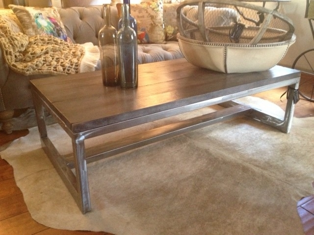 Rustic Metal Coffee Table – Lilangels Furniture For Modern Rustic Coffee Tables (Image 34 of 40)