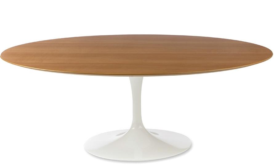Saarinen Coffee Table Wood Veneer – Hivemodern With Regard To Suspend Ii Marble And Wood Coffee Tables (Image 27 of 40)