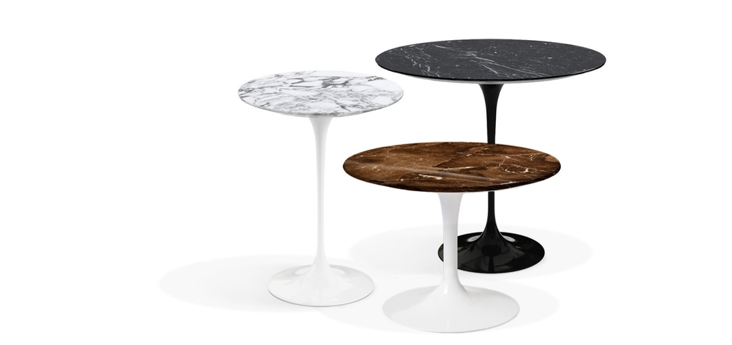 Saarinen Side Tables | Knoll Inside 2 Tone Grey And White Marble Coffee Tables (View 28 of 40)
