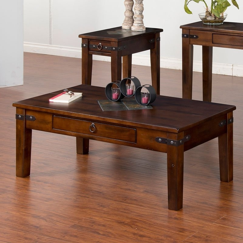 Santa Fe Tapered Leg Coffee Table Sunny Designs | Furniture Cart With Regard To Santa Fe Coffee Tables (Image 22 of 40)