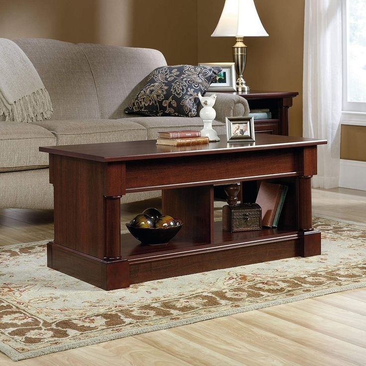 Sauder 420520 Palladia Lift Top Coffee Table, Cherry Finish: $ (Image 30 of 40)