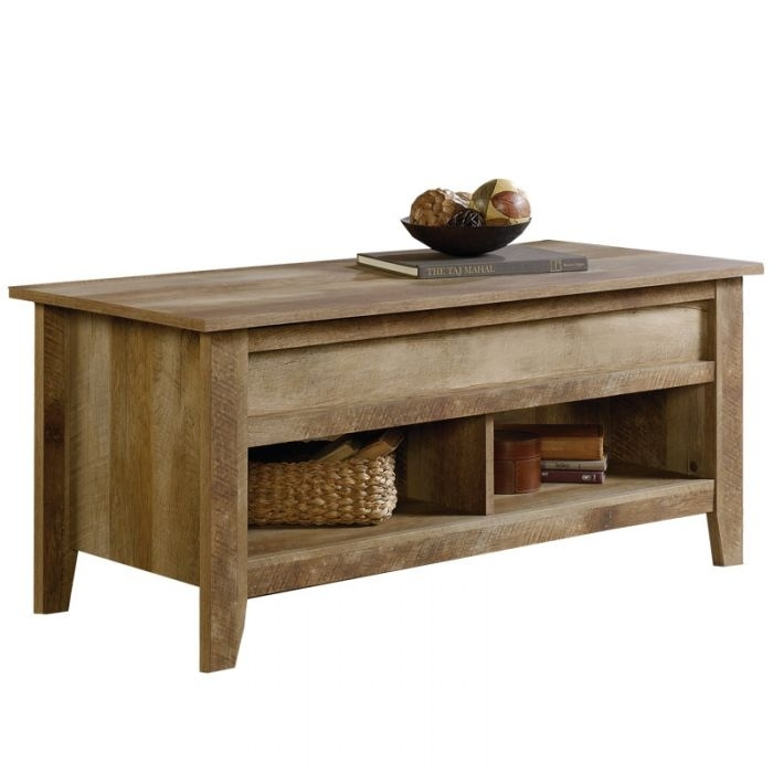 Sauder Craftsman Oak Dakota Pass Cocktail Table | Weekends Only With Craftsman Cocktail Tables (Image 35 of 40)