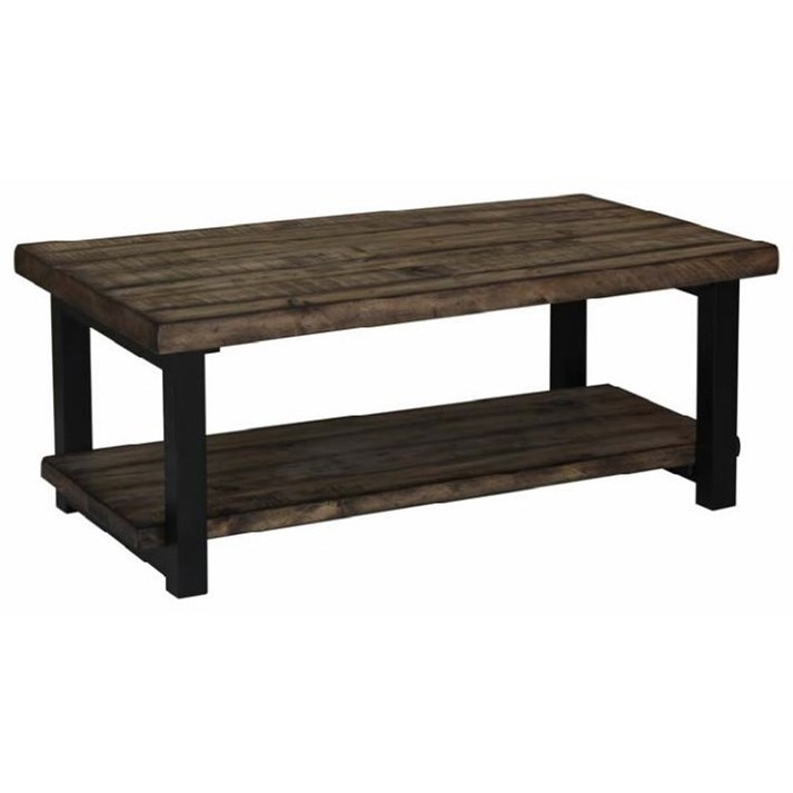 Scott Living 70567 Rustic Planked Top Coffee Table | Belfort In Potomac Adjustable Coffee Tables (Image 28 of 40)