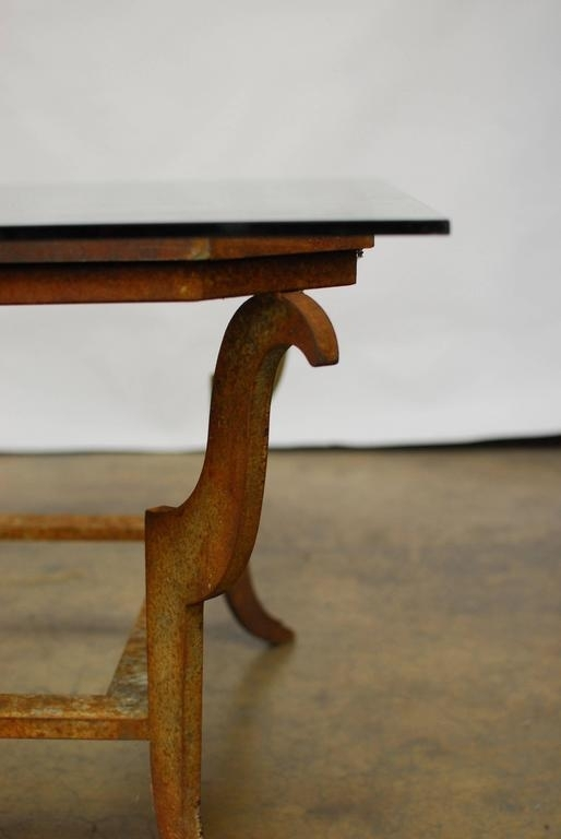Sculpted Steel Patinated Coffee Table For Sale At 1Stdibs Inside Rectangular Barbox Coffee Tables (Image 24 of 40)