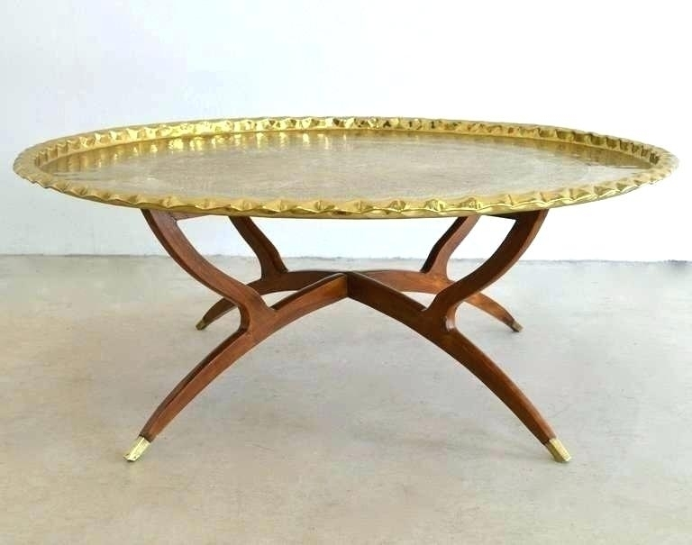 Selecting Antique Brass Coffee Table Round Brass Coffee Table Round Intended For Antique Brass Coffee Tables (View 21 of 40)