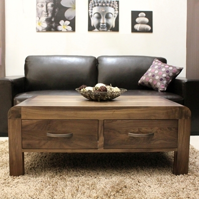 Shiro Solid Walnut 4 Drawer Coffee Table – Robson Furniture Within Walnut 4 Drawer Coffee Tables (View 9 of 40)