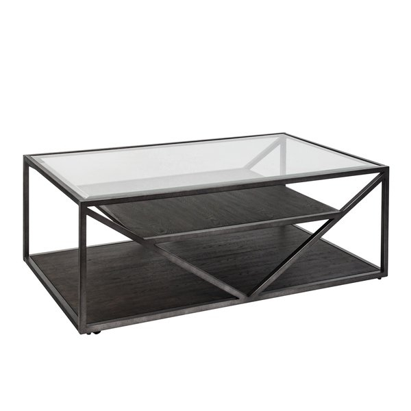 Shop Arista Cobblestone Brown And Grey Dusty Wax Cocktail Table – On In Waxed Metal Coffee Tables (Image 30 of 40)