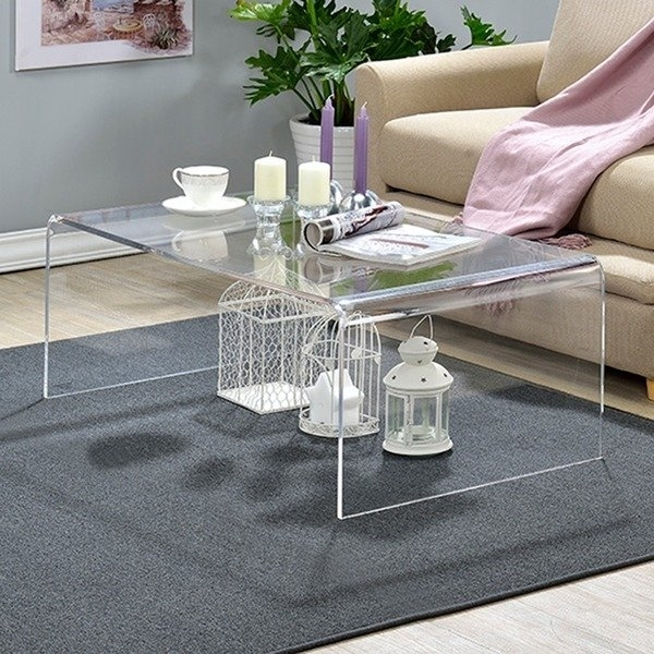 Shop Clear Acrylic Coffee Table – On Sale – Free Shipping Today For Peekaboo Acrylic Tall Coffee Tables (View 3 of 40)