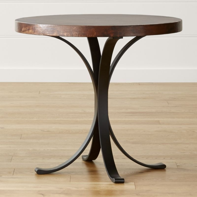 "Shop Cobre 32"" Round Iron Bistro Table With Copper Top (Image 34 of 40)"