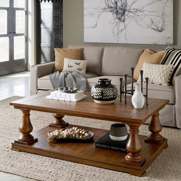 Shop Densbury Traditional Rustic Natural Pine Coffee Table – On Sale Within Natural Pine Coffee Tables (Image 32 of 40)